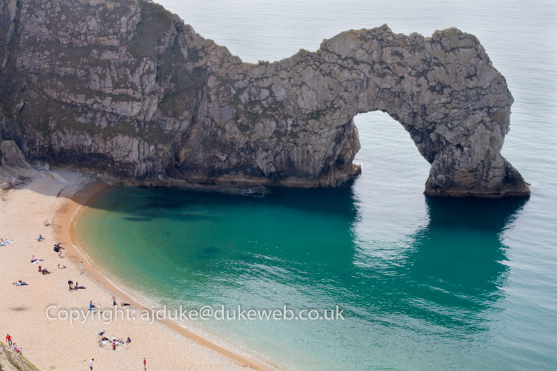 Durdle Door, Jurassic Coast World Heritage Site, Dorset, England, UK