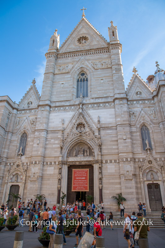 Main cathedral Duomo in Naples, Italy