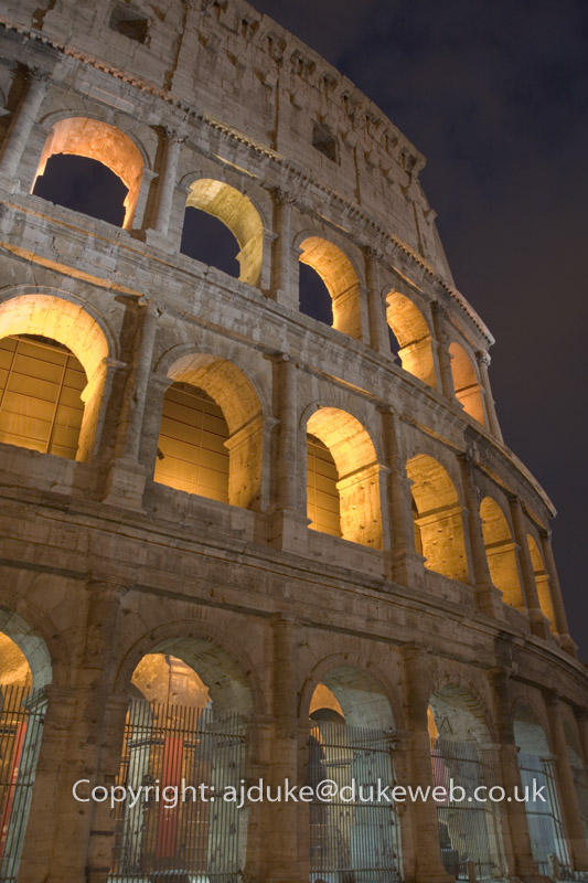 Colosseum in Rome at night
