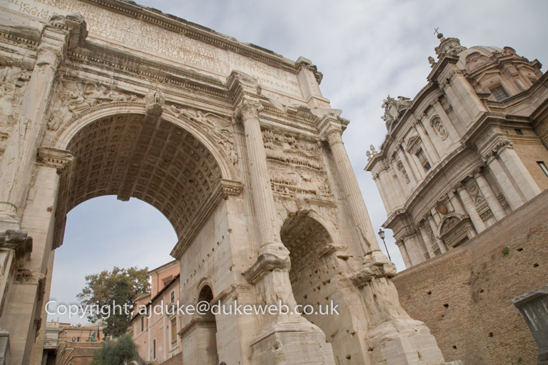 Arch in the Roman Forum, Rome, Italy