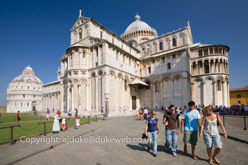 The Cathedral Duomo and Baptistry, Pisa, Italy